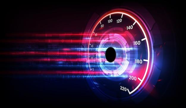 高速スピードメーター車でスピードモーションの背景。レーシング速度の背景。 Premiumベクター