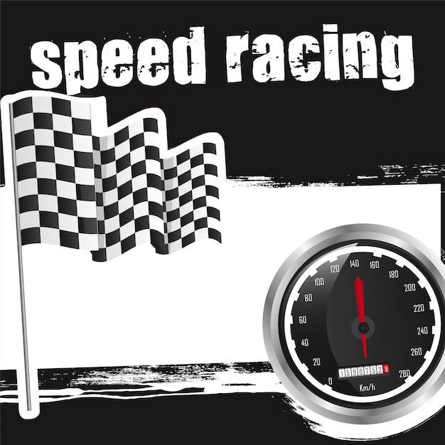 Speed racing background with space for copy Premium Vector