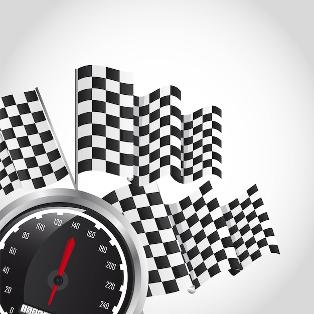 Speed racing over gray background vector illustration Premium Vector