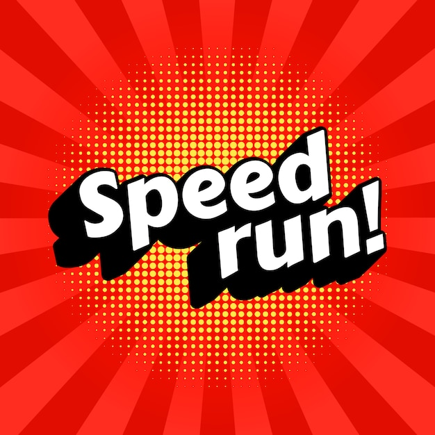 Speedrun видеоигра прохождение жанра. Premium векторы