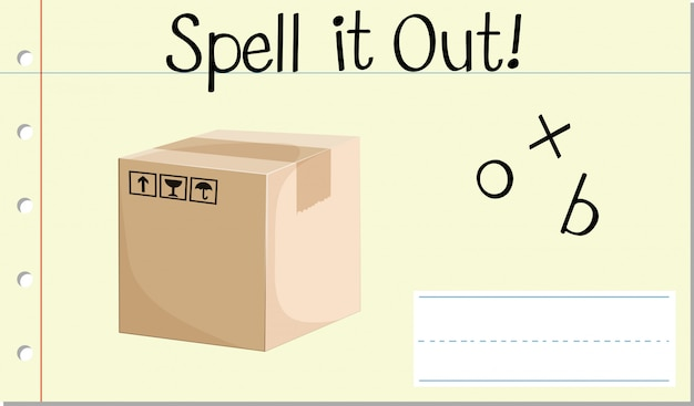 Spell english word box Free Vector