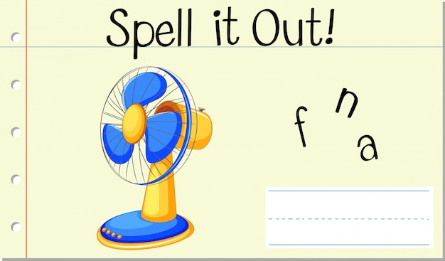 Scrivi parola fan inglese Vettore gratuito