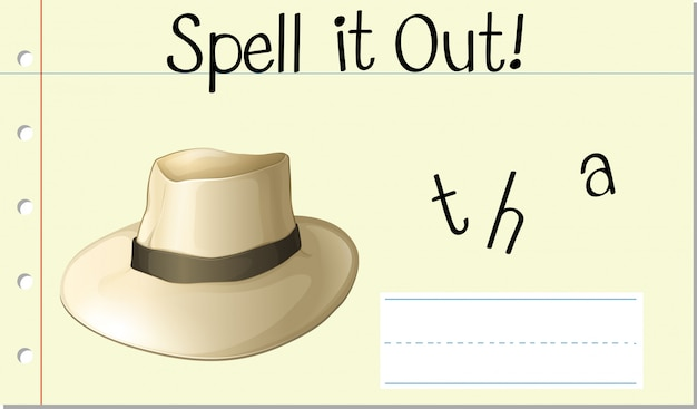 Spell it out hat Free Vector