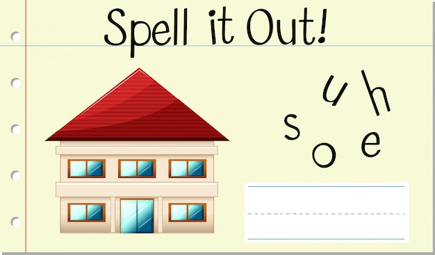 Spell it out house Free Vector