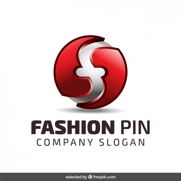 Spherical Logo In Red Color Vector Free Download