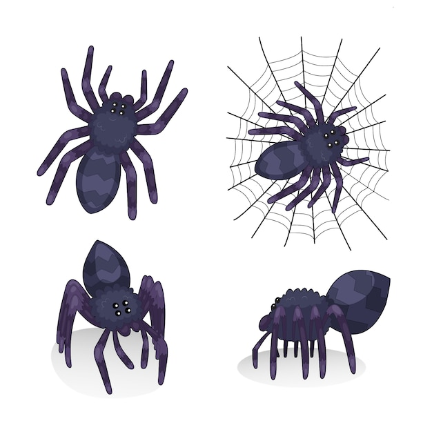 Spider illustration collection Free Vector