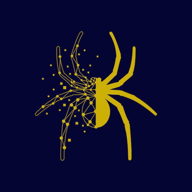 Spider technology graphic abstract shape modern Premium Vector