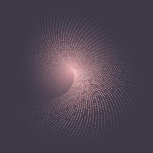 網点のデザインと抽象的な背景 無料ベクター