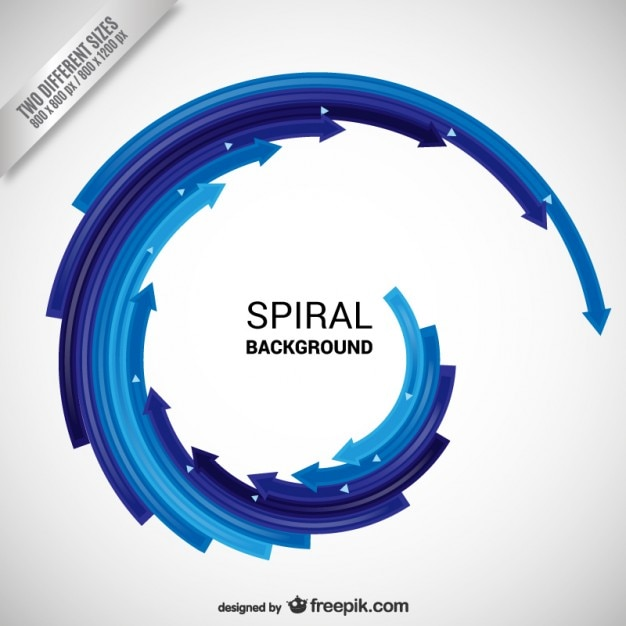 Spiral background Free Vector