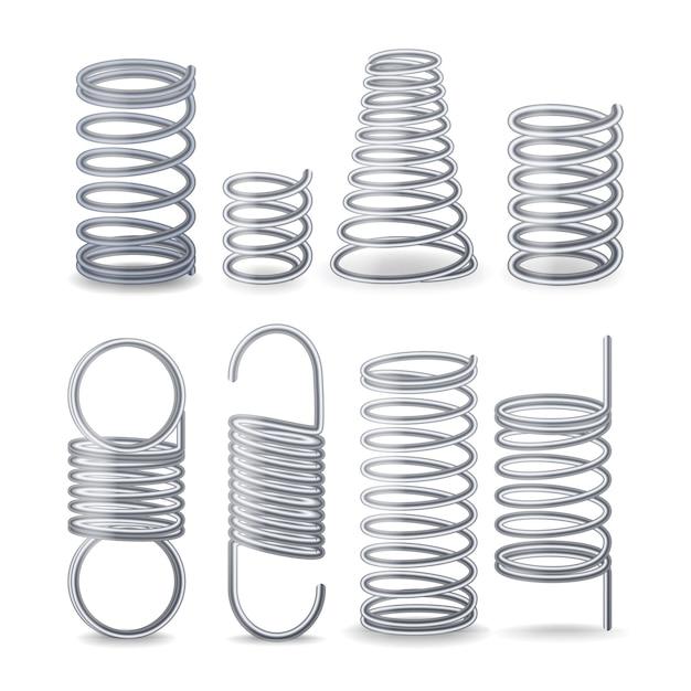 Spiral flexible wire Premium Vector