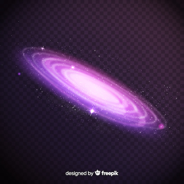Spiral galaxy background Free Vector