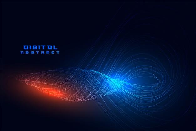 スパイラルライン波動デジタル技術 無料ベクター