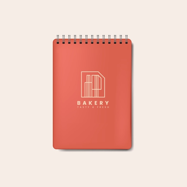 Spiral red notebook mockup isolated vector Free Vector