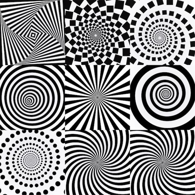 Spiral with vortex effect. Premium Vector