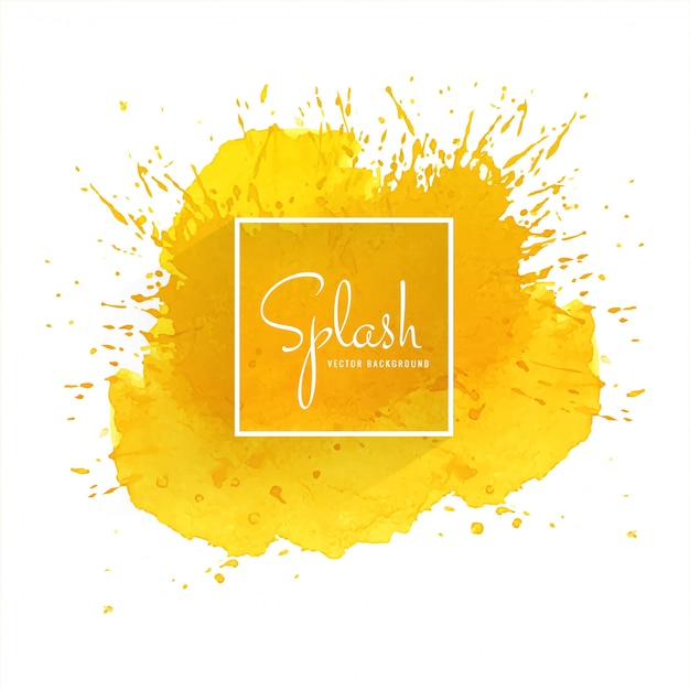 Splash colorful watercolor background Free Vector