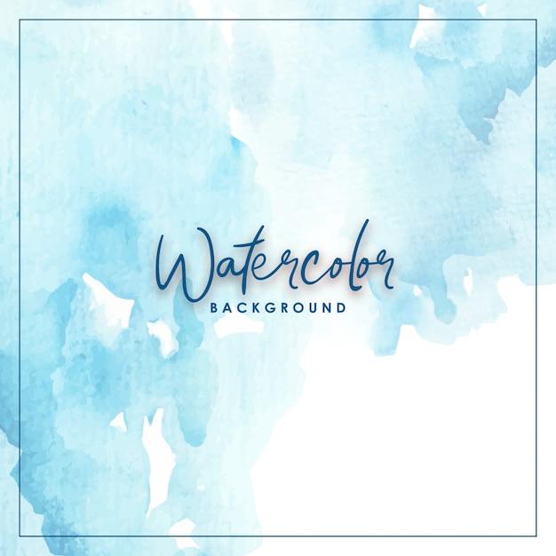 Splash watercolor blue Premium Vector