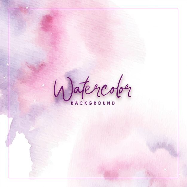 Splash watercolor purple background Premium Vector