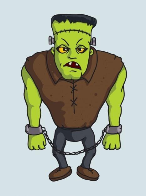 Spooky Frankenstein monster vector character Vector | Free ...