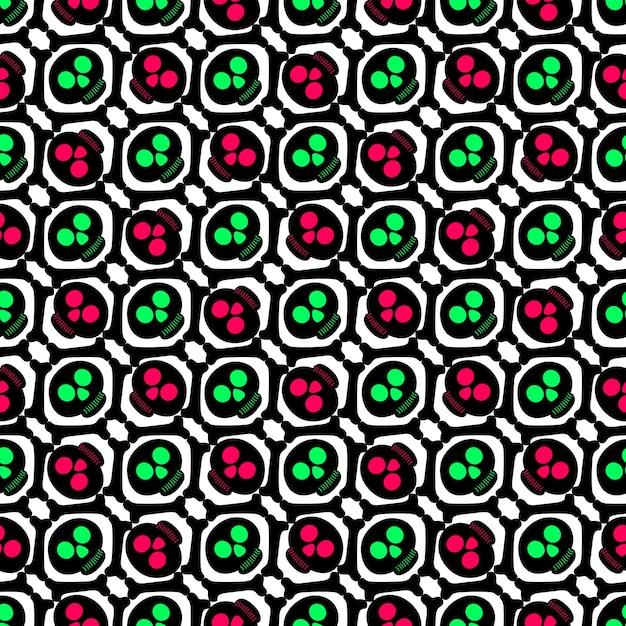 Spooky geometric halloween pattern abstract Premium Vector