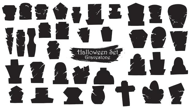 Spooky gravestone Premium Vector
