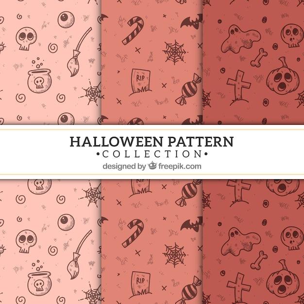 Spooky halloween pattern Free Vector