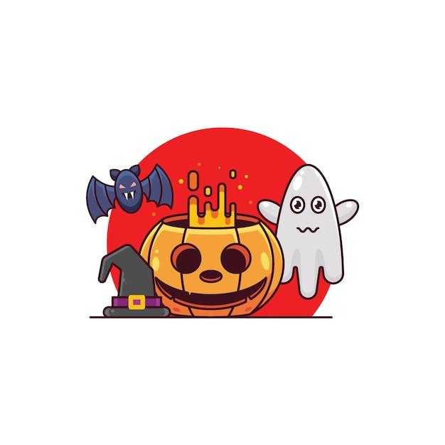 Spooky halloween Premium Vector