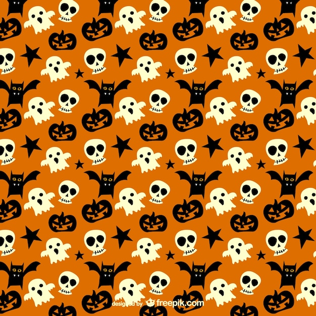 Spooky pattern for halloween Free Vector