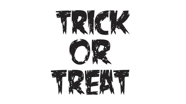Spooky trick or treat text Premium Vector