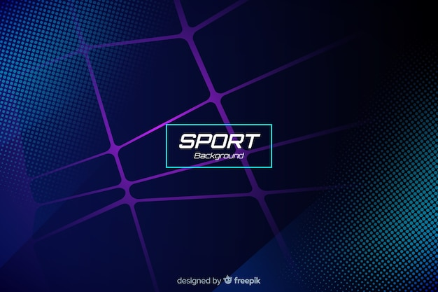 Sport background with abstract shapes Free Vector