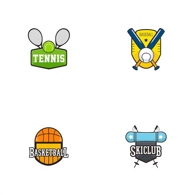 Sport badge logo Premium Vector