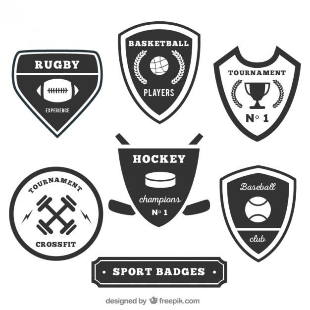 Sport Badges Collection Vector Premium Download
