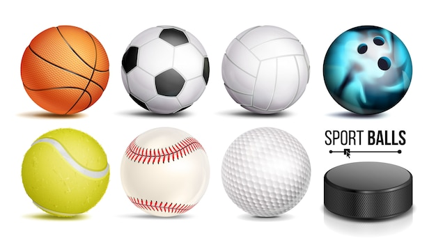 Sport ball set Premium Vector