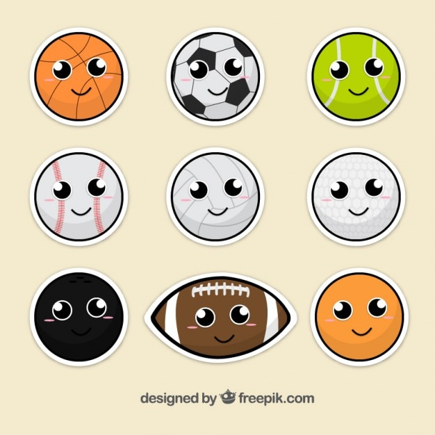 Sport ball sticker collection
