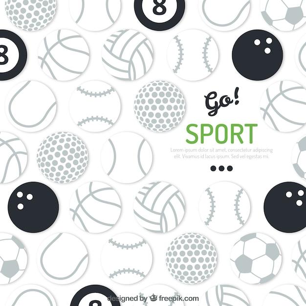 Sport Balls Background Premium Vector