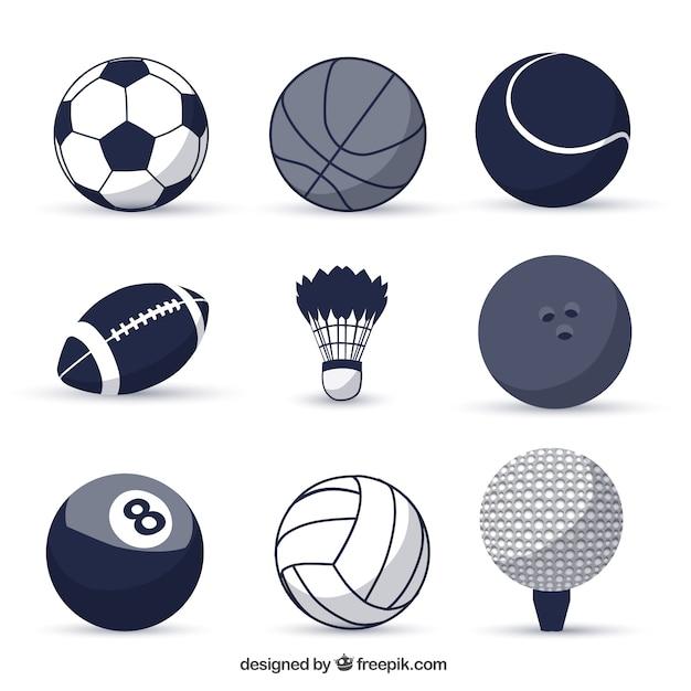 Sport balls Free Vector