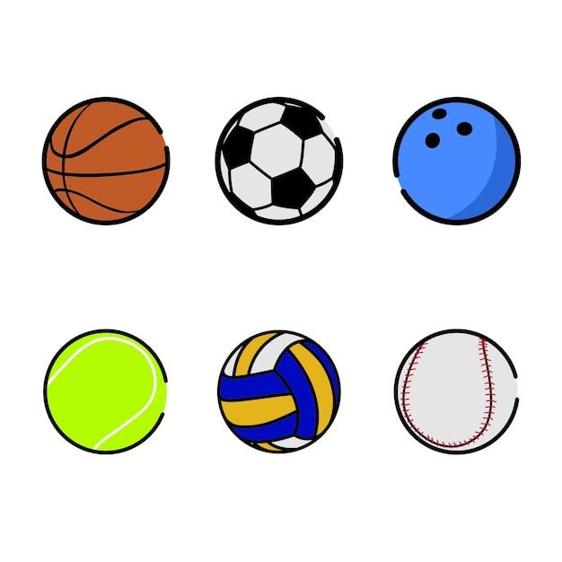 Sport balls Premium Vector
