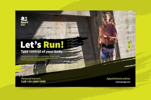 Sport banner template Premium Vector