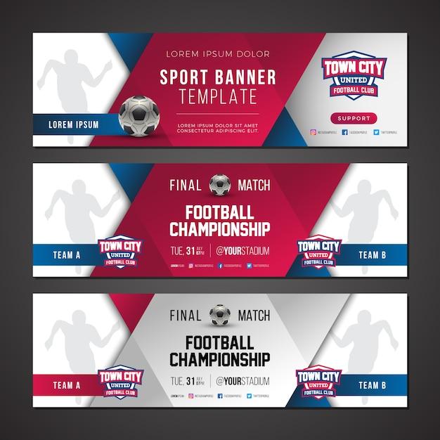 sport banner template vector premium download