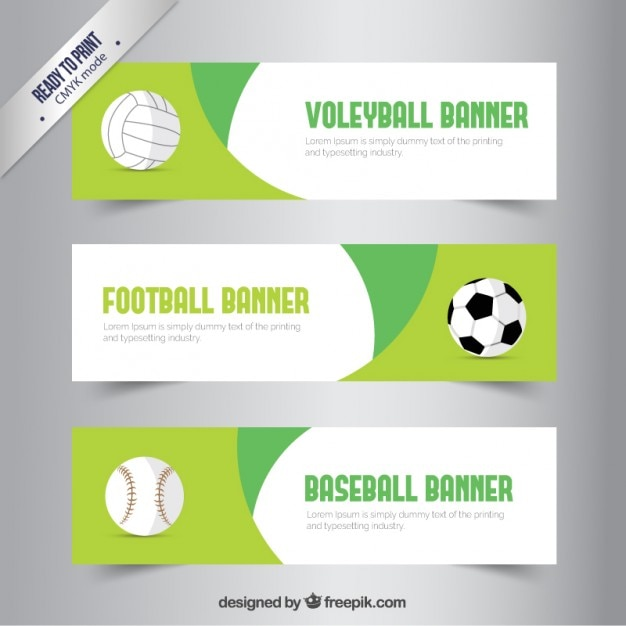 Sport banners Free Vector