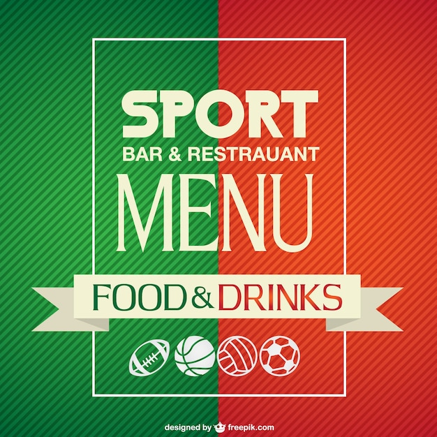 Sport bar menu template Vector – Drinks Menu Template Free