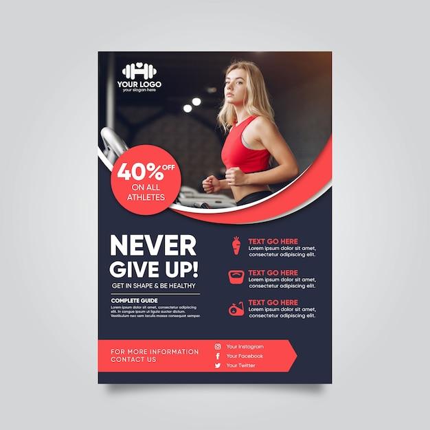 Sport brochure concept Premium Vector