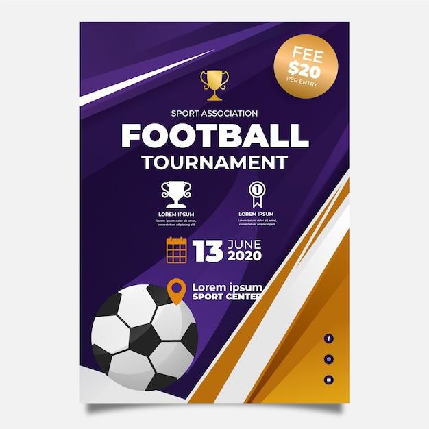 Спортивная брошюра Бесплатные векторы