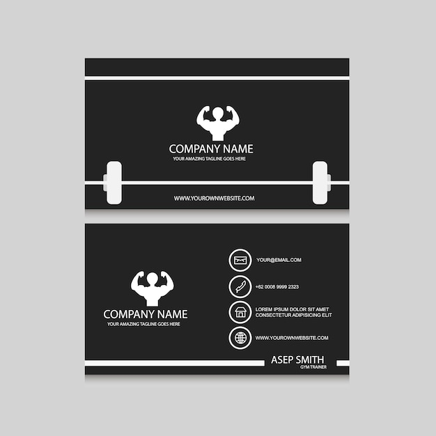 Sport Business Card Design Vector Free Download