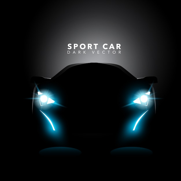 Sports Car Outline