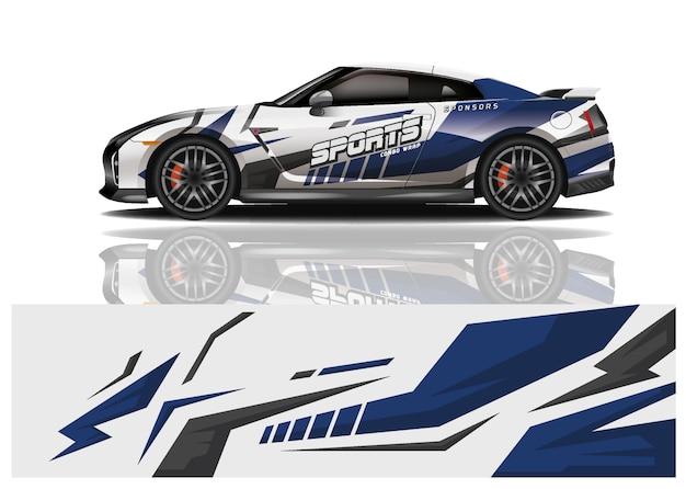 Sport car decal wrap design vector Premium Vector