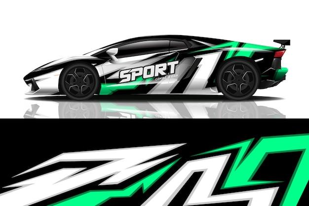 Дизайн спортивной машины Premium векторы