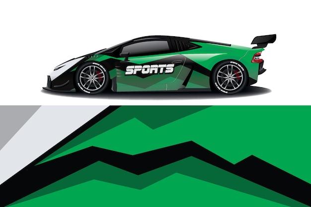 Дизайн наклейки на спортивный автомобиль Premium векторы