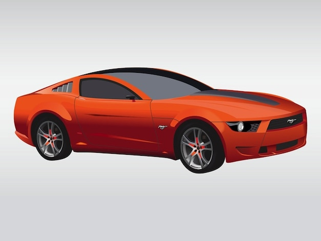 Sport car fast automovile vector