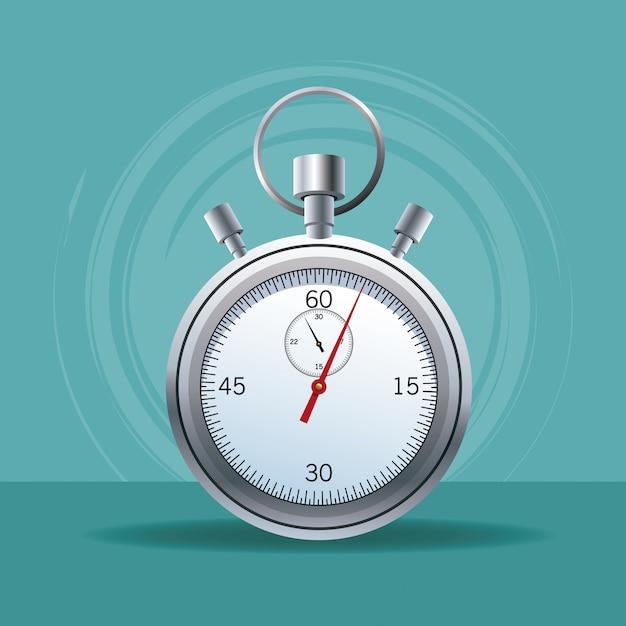 Sport chronometer isolated Premium Vector