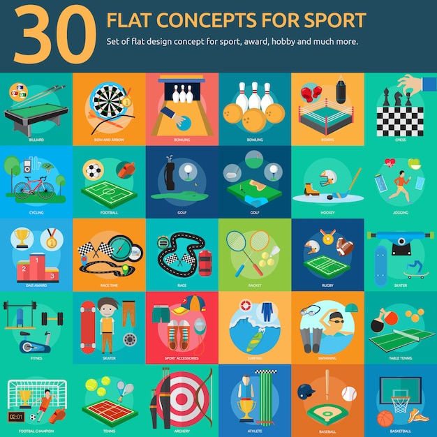 Sport designs collection Free Vector